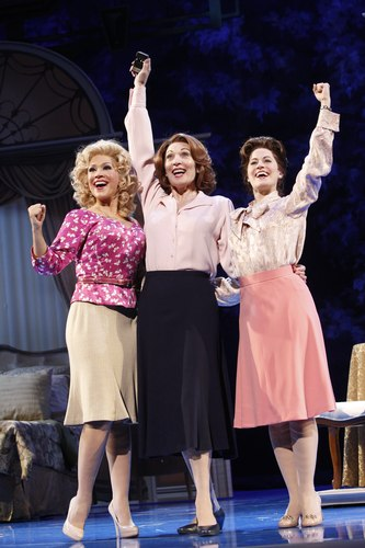 Diana DeGarmo as Doralee Rhodes, Dee Hoty as Violet Newstead andMamie Parris as Judy Bernly in 9 to 5: The Musical.