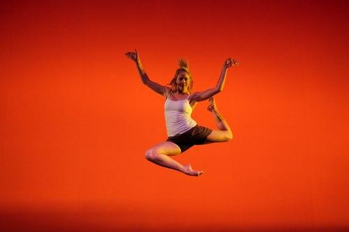 Senior Dance Major Kristine Jones performs in David Parsons' 'Nascimento Novo'.