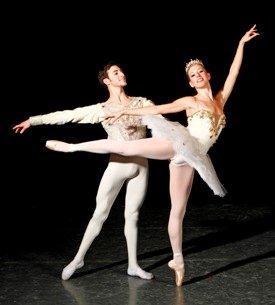 Butler Ballet's Garrett Glassman and Erin Langston in 'The Sleeping Beauty'