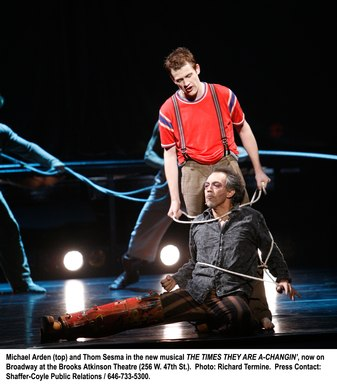 Michael Arden and Thom Sesma in The Times They Are A Changin'