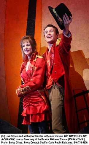 Lisa Brescia and Michael Arden in The Times They Are A Changin'