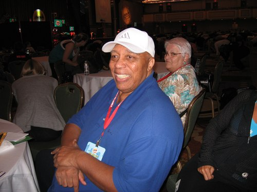 Frank Hatchett taking in the ballroom crowd.