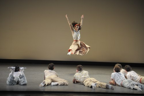 Alison Koroly, a student in the Jacobs School of Music Ballet Department, in the Rum and Coca Cola section of Company B.