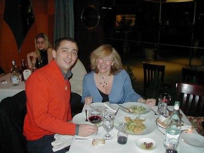 Roberta with Gian Paolo, Amarone Ristorante Manager, at Azalea
