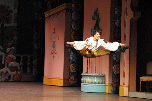 Christopher Lingner in the 'Trepak' in IU Ballet Theater's 'The Nutcracker'. Photo courtesy of IU Ballet Theater.