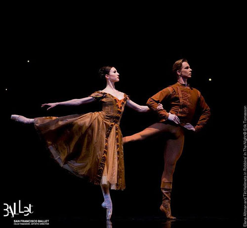 Elana Altman and Tiit Helimets in Jerome Robbin's 'In the Night'.