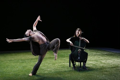 Grass Dancer: Gen Hashimoto with Composer/Cellist Julia Kent Choreography by Jennifer Muller