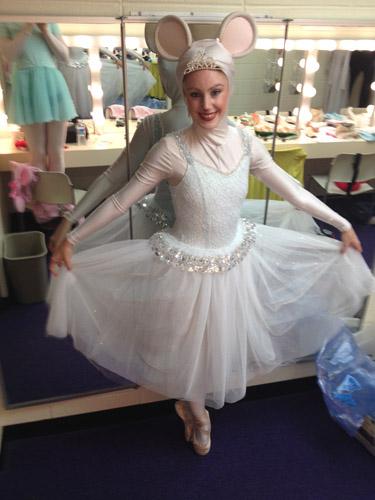 Taylor Gordon as Serena Silvertail in 'Angelina Ballerina The Musical'. Photo courtesy of Taylor Gordon.
