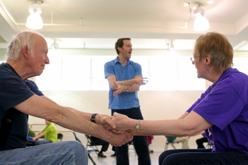 John Heginbotham teaches members of the Brooklyn Parkinson Group at the Mark Morris Dance Center. Photo by Amber Star Merkens.