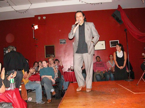 Flamenco at Alegrias - Jorge Navarro introduces the performers