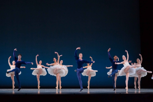 Dancers in George Balanchine's 'Symphony in C'.