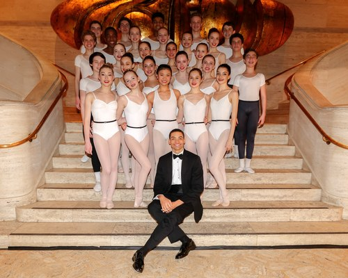 The SAB dancers with Silas Farley.