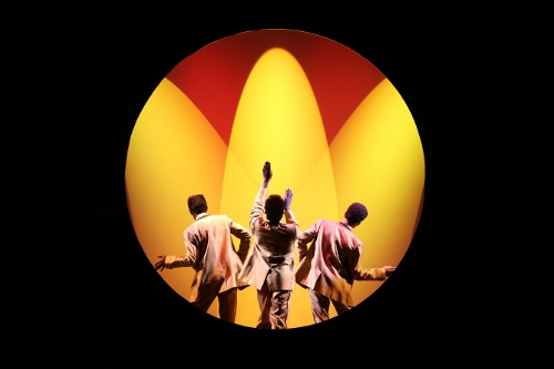 The 'Be Black Trio' in the National Touring Company of MEMPHIS.