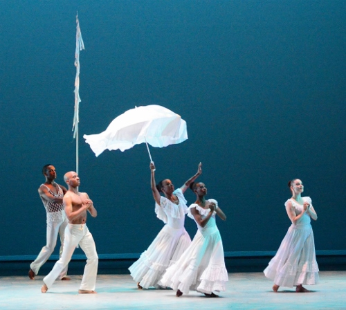 The Company in Alvin Ailey's 'Revelations.' Photo by James R. Brantley