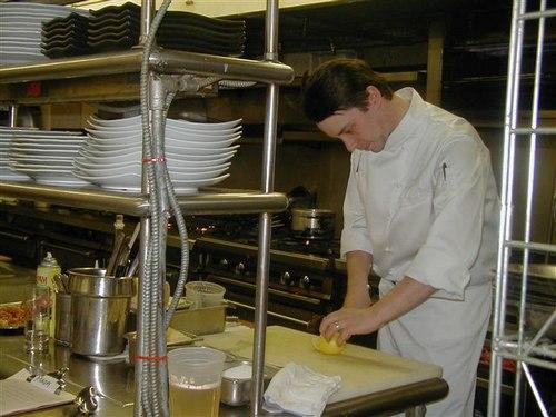 Jason Potanovich, Chef de Cuisine, in his Kitchen