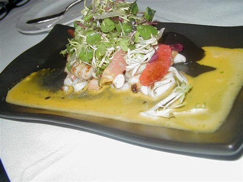 Grilled Octopus with Calamari Appetizer