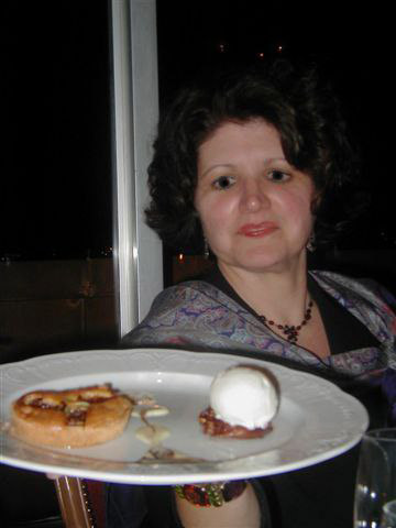 Angela's Fig Tart and Ice Cream