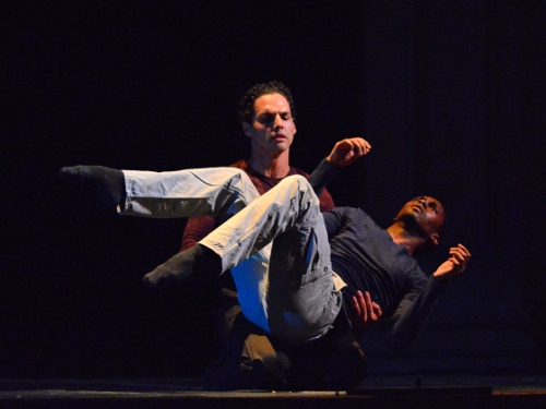 Chamber Dance Project dancers Andile Ndlovu and Luis R. Torres in Diane Coburn Bruning's 'Exit Wounds'.