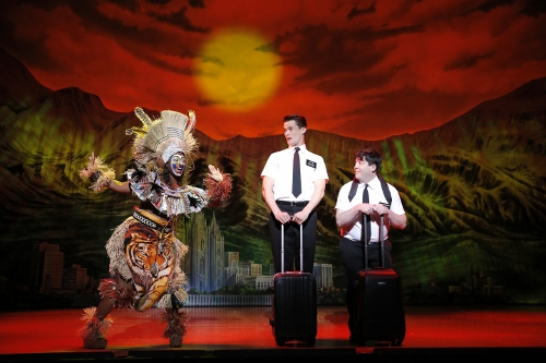 Phyre Hawkins, Mark Evans, Christopher John O'Neill THE BOOK OF MORMON First National Tour