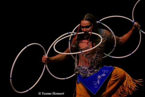 Lumhe Micco Sampsin in 'Fire of Renewal' from Dancing Earth's ORIGI-NATION: ROOTS AND SEEDS