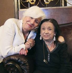 Olympia Dukakis and Judith Malina