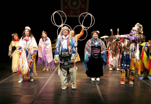 POW-WOW—Finale of Thunderbird American Indian Dancers' Dance Concert and Pow-Wow, presented by Theater for the New City January 31 to February 9, 2014.