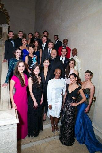 Ballet Hispanico Company and BHdos dancers with Artistic Director Eduardo Vilaro