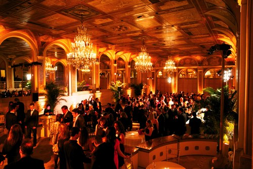 The reception at the Plaza Hotel