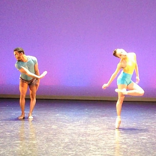 Grand Rapids Ballet dancers Ednis Gomez and Yuka Oba in Sagi Gross' 'Strings.'