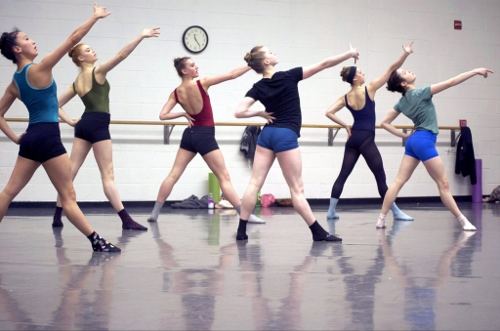 Grand Rapids Ballet dancers rehearse Andrea Schermoly's 'Things You Can't Take Back.'