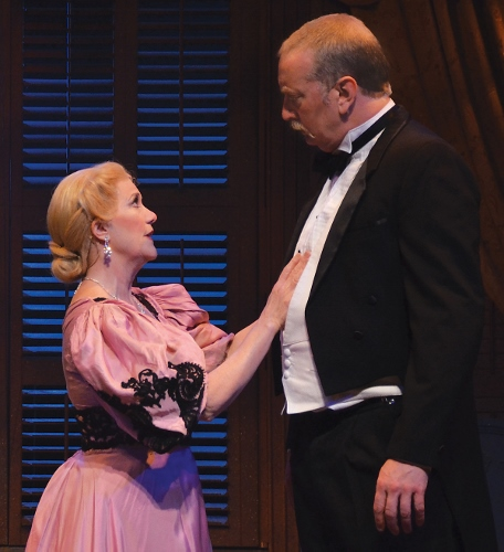 Mrs. Darling (Suzanne Stark), left, tells her husband Mr. Darling (Jeff Stockberger) about a mysterious boy she saw at the window of their nursery in Beef & Boards Dinner Theatre's production of Peter Pan, now on stage through July 3. Featuring $10 discounts off regularly-priced tickets for all children ages 3-15, this show also includes Chef Odell Ward's family-friendly dinner buffet and select beverages. For reservations, call the box office at 317.872.9664. For more information, including show schedule, visit beefandboards.com.