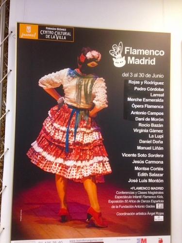 Poster of Flamenco Madrid festival at the Fernán Gómez Centro Cultural de la Villa, Madrid Spain, June 3-30.
