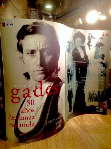 Homage to Antonio Gades, exhibit at the Fernán Gómez Centro Cultural de la Villa, Madrid, Spain, in conjunction with Flamenco Madrid.