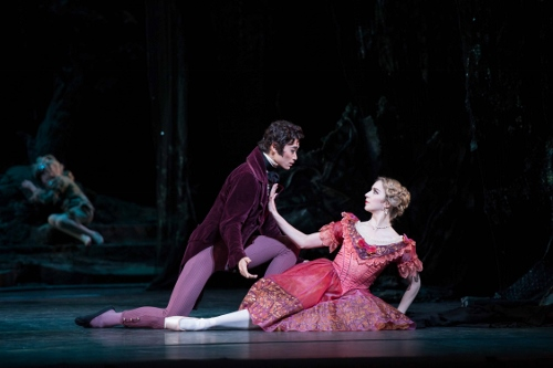 The Royal Ballet's Ryoichi Hirano and Nathalie Harrison in Frederick Ashton's 'The Dream.'