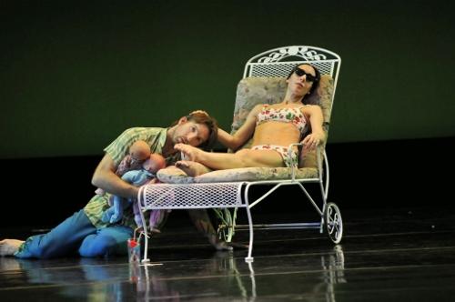 Damien Highfield and Felise Bagley in Rosie Hererra's 'House Broken.' Photo courtesy of GroundWorks DanceTheater.