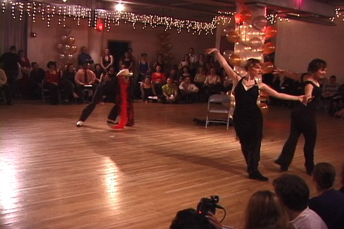 Stepping Out Studios Holiday Gala 2006 Simone Assboeck & Martina Kocichova dance Theatrical Cha Cha Fusion