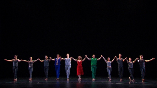 Paul Taylor Company dancers in a scene from 'Paul Taylor: Creative Domain.'