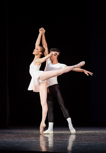 IU Ballet Theater's Cara Hansvick and Andy Copeland in George Balanchine's 'Concerto Barocco.'
