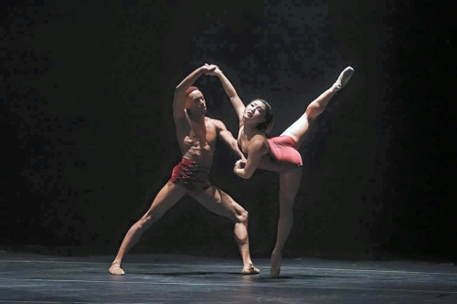 Complexion dancers Addison Ector and Youngsil Kim in Dwight Rhoden's<br>'Ballad Unto…'