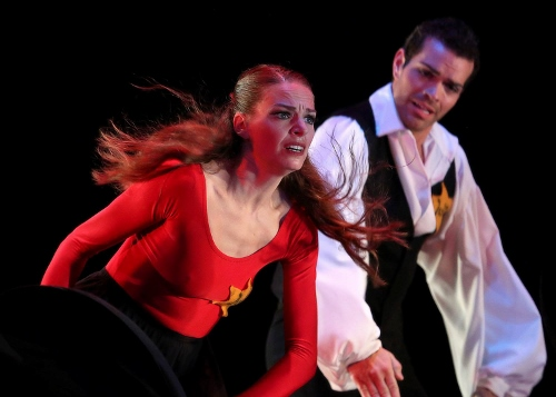 Caitlin Negron and Timothy June in 'Remembrances: a Ballet in Memory of the Victims of the Holocaust.'