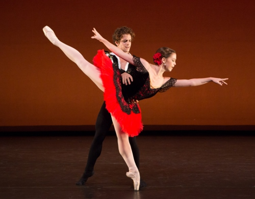 "Gelsey Kirkland Ballet dancers in the ""Don Quixote"" pas de deux."