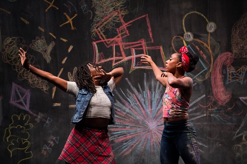 Dancers Fana Fraser and Beatrice Capote in 'BLACK GIRL: Linguistic Play.'