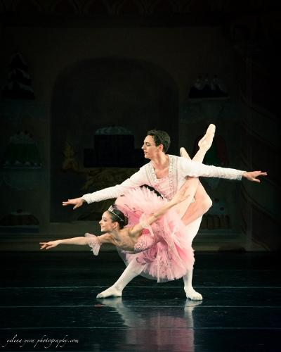 Nikita Boris as the Sugar Plum Fairy and Justin Valentine as her Cavalier.