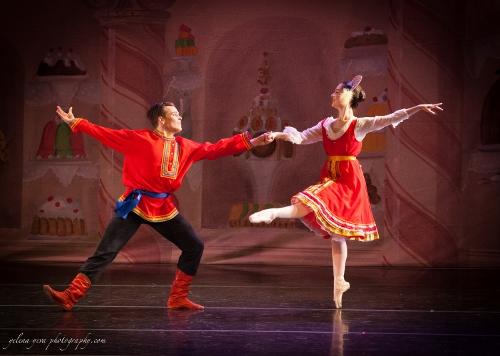 Jack Furlong and Mari Bell in the Russian Dance.