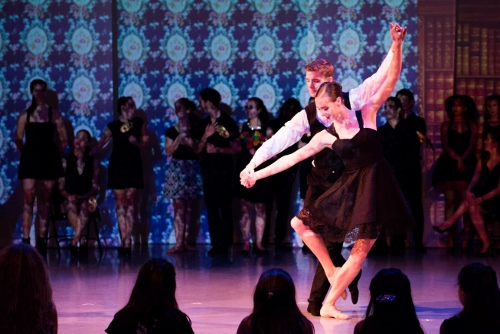 Katie Currier and Zachary Kukla of Peridance Contemporary Dance Company.