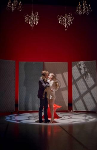 Grand Rapids Ballet dancers Nicholas Schultz and Cassidy Isaacson in Annabelle Lopez Ochoa's 'Dangerous Liaisons.'