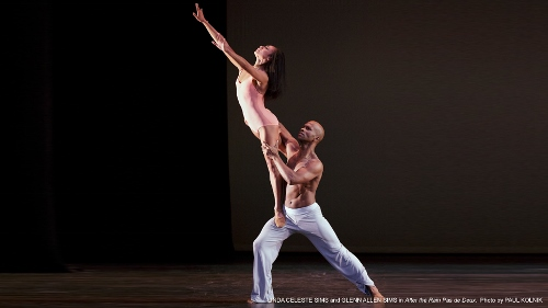 Linda Celeste Sims and Glenn Allen Sims in Christopher Wheeldon's 'After the Rain Pas de Deux.'
