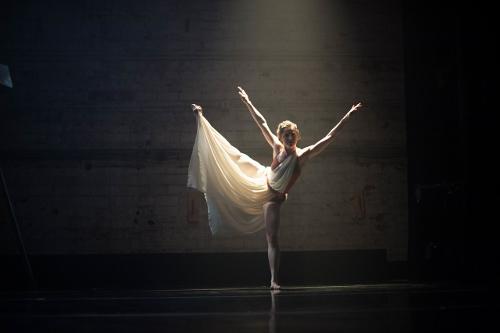 Elu Dance Company's Mikaela Clark in 'barefaced.'