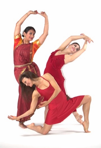 "(Clockwise from top/left) Rasika Kumar, Karen Gabay and Maria Basile, choreographers of ""Goddesses and…""."