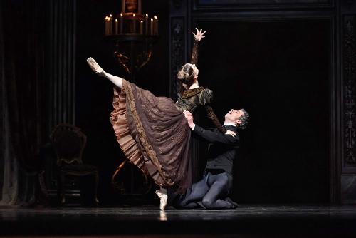 "SF Ballet's Maris Kochetkova and Vitor Luiz in John Cranko's ""Eugene Onegin."""